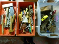 Toolbox of Assorted Tools, and a Box of Tools Incl