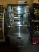 *rear loading display cabinet refrigeration unit with 3 shelves 620w x 780d x 1380h