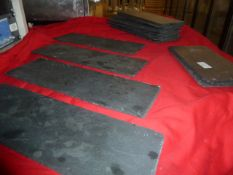 *display slates - approx. 18, various sizes