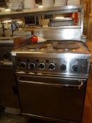 *Mareno 4 hob electric oven 3 phase 600w x 650d x 1000h