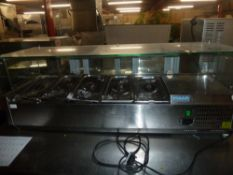 *Polar countertop refrigeration unit with glass display counter front - complete with gastronomes