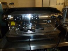 *LaCimbali 2 group coffee machine model M24 with 2 multi-directional steam wands and hot water