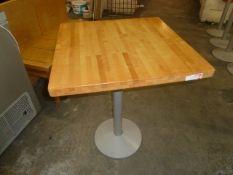 *square butchers block tables x 4 600w x 600d x 770h
