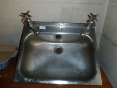 *S/S hand wash sink with taps 460w x 360d