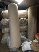 *2x27.5m Roll of Cream Carpeting ~56m²
