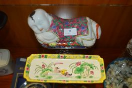 Sleeping Buddha and a Dish