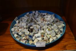 Tray of Lot of Collectible Thimbles