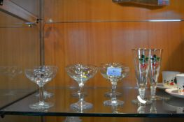 Assorted Babycham Glasses and Two Cherry Bee Glass