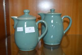 Denby Coffee Pot and Milk Jug