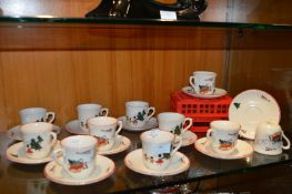 Eleven Masons Christmas Village Cups & Saucers