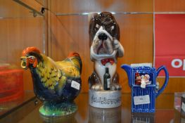 Chicken Teapot and a Musical Dog Gin Bottle etc.