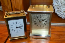 Two Quartz Carriage Clocks