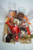 *Basket of Assorted Belgium Chocolates; Bags, Bars, Boxes, etc.