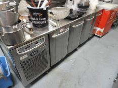 *Foster Mobile Stainless Steel Refrigerated Preparation Unit Enclosed by Four Doors