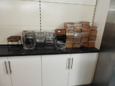*Quantity of Wood Block Trivets with Stands