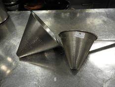 *Two Stainless Steel Conical Strainers