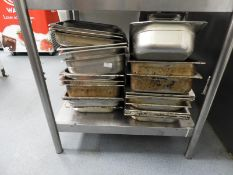 *30 Assorted Stainless Steel Bain Marie Inserts