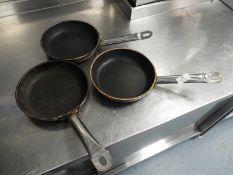 *Three Stainless Steel Non-Stick Sauté Pans