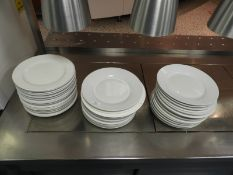 *46 Assorted White Plates