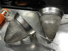 *Two Conical Straining Colanders