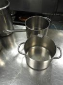 *Two Stainless Steel Pans