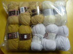 Ten Assorted Rolls of Wool