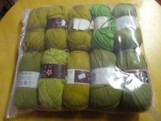 Ten Rolls of Green Wool