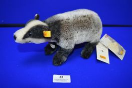 Steiff Family Collection no.22 - Badger (length 25cm)
