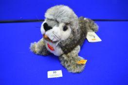 Steiff Robby Seal with Squeak (length 30cm)