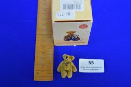 Hermann Miniature Caramel Teddy Bear (4cm)
