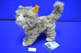 Steiff Whiskas Grey Cat (Length 28cm)