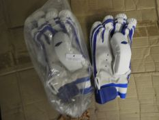 *Two Pairs of Batsman's Leather Gloves (Blue & White)