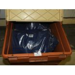 *10 Size: L Navy Polycotton Drill Tops