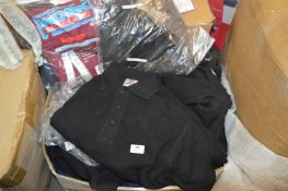 *20 Mixed Items; Black Polos, Workwear, etc.