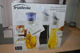 *Trudeau Oil & Vinegar Bottle Set