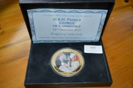 Commemorative Cook Islands 2013 $5 Royal Christeni