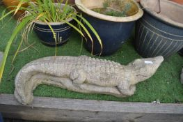 Garden Crocodile Ornament