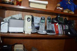 Pure Alarm Radio and Assorted Cordless Telephones,