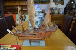Wooden Model of a Chinese Junk