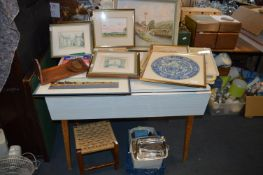 Retro Table, Quantity of Framed Pictures and Print