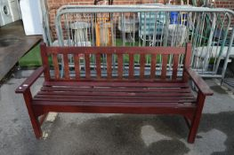 Wooden Garden Bench ~6ft Long