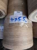 Roll of Wood Effect Lino 4x5.5m