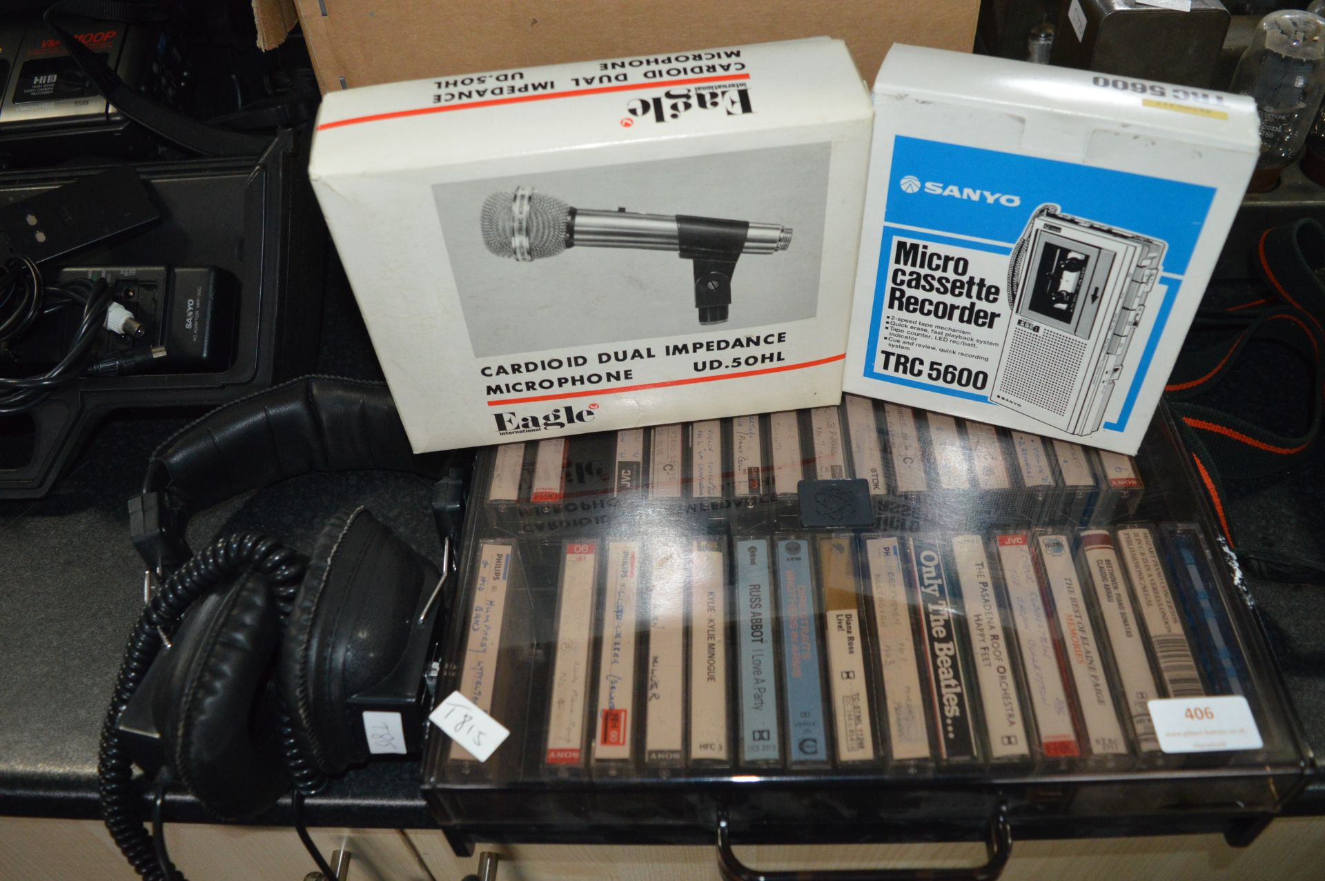 Vintage Eagle Microphone, Sanyo Micro Cassette Rec