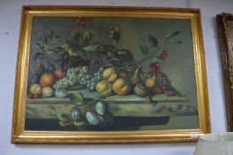 Gilt Framed Oil on Canvas by Mayers - Still Life