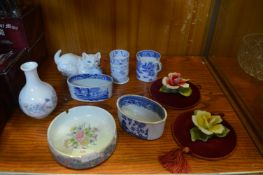 Blue & White Dishes, Cups, etc.