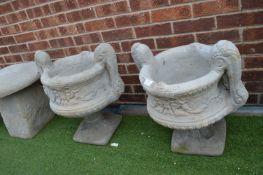 Pair of Garden Urn Planters