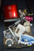 Electrical Items; Irons, Hot Dog Cooker, etc.