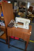 Vintage Singer Sewing Machine House in a Drop Leaf