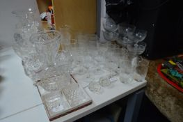 Cut Glass Crystal Vases, Dishes, Wine Glasses, etc