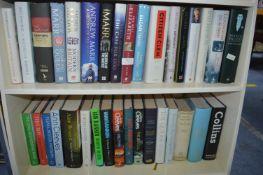Two Shelves of Hardback Books; Politics, History,